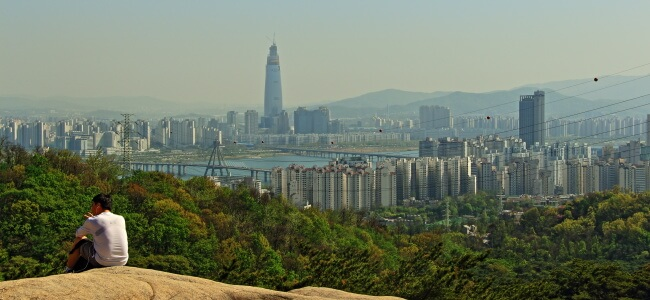 Travel Photo View from Achasan, Seoul, South Korea