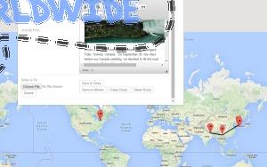 Create and share your own travel map. Add pictures and videos to promote your travels!