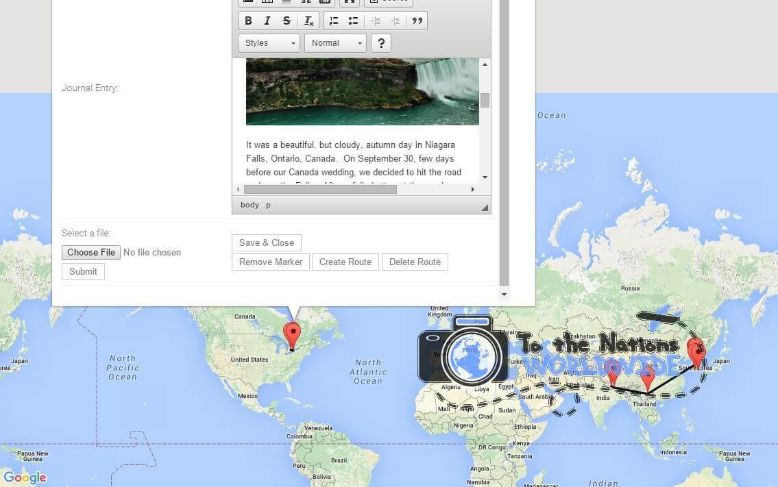 how to share tripadvisor travel map