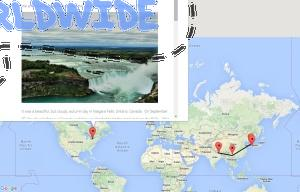 View your friend's travel map and rate it!