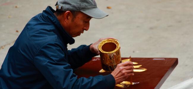 Painting in Kunming, Yunnan, China