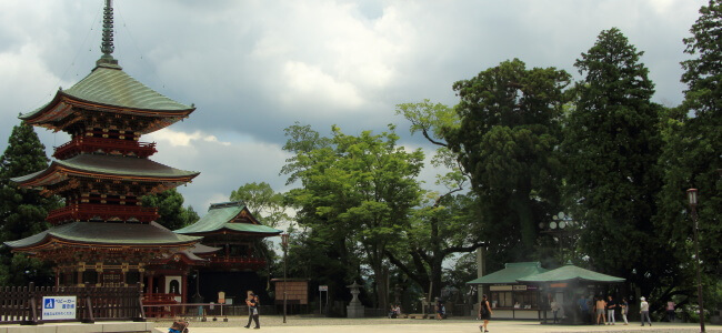 Three-Storied Pagoda in Naritisan Shinshoji Temple in Narita, Japan
