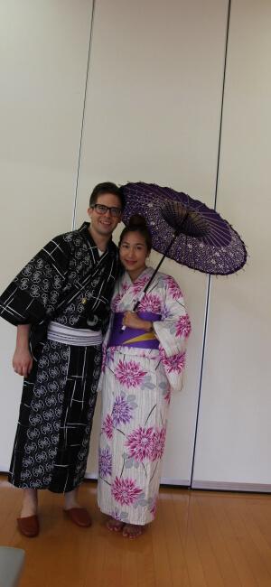 Japanese Kimono in Narita, Japan